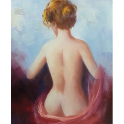 Hand-painted wall art, Oil painting,Woman 2, 50х60 cm