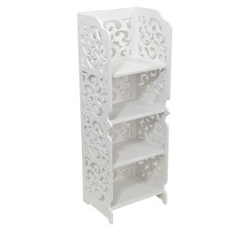 4-Tier Storage Shelf, Wall Shelf, Book Shelf, White ,28/22/80cm