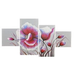 Wall art painting, 4 Panel painting, Poppies 2 : 40х60х2/30х90х2 cm