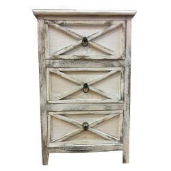 Wooden Sideboard,3 Drawers Sideboard,Cupboard,Buffet, Solo,Chest ,Aged  white ,45/30/65h