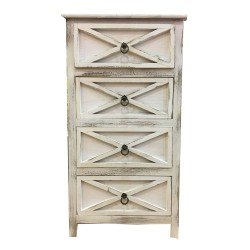Wooden Sideboard,4 Drawers Sideboard,Cupboard,Buffet, Solo,Chest ,Aged  white, 45/30/81h