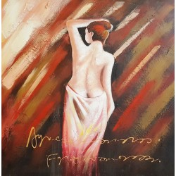 Oil painting,  Relief canvas wall art,Woman   80х80 cm