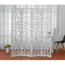 Paravent-Room Divider-Decorative room Divider , White, 160/180 cm