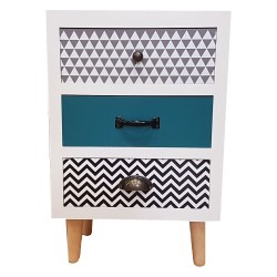 Wooden Sideboard,3 Drawers Sideboard,Cupboard,Buffet, Solo,Chest , Multicoloured,  40/30/61h
