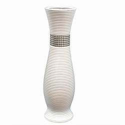 "Ceramic flower vase,White, ""Necklace"" series, 60 cm"