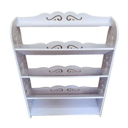 Shoe rack,White, 80/60/17cm
