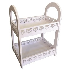 2 Tier Serving set,Serving tray, White 40/30/20cm