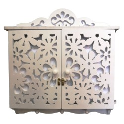 Wall cabinet with coat rack , 46/45/7 cm