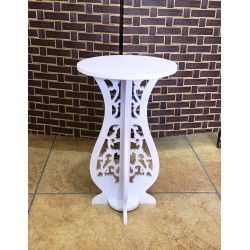 Round Side Table ,White, 26/44 cm
