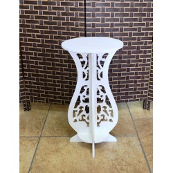 Round Side Table ,White, 31/59 cm