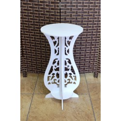 Round Side Table ,White, , 36/75 cm