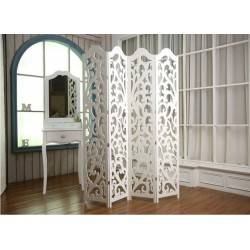 Paravent-Room Divider-Decorative room Divider , White, 120/160 cm